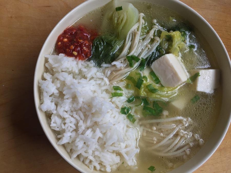 Tofu and VeggieSoup