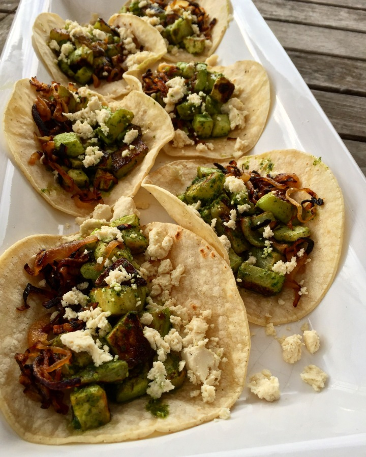 Green Adobo Roasted Chayote Tacos