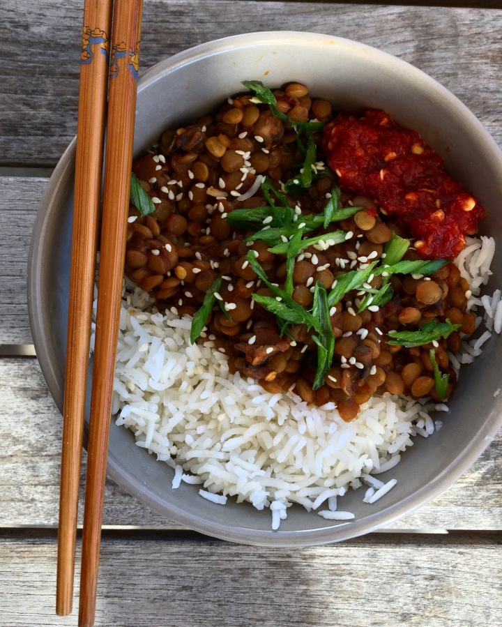 Sweet and Spicy Szechuan Lentil Bowl
