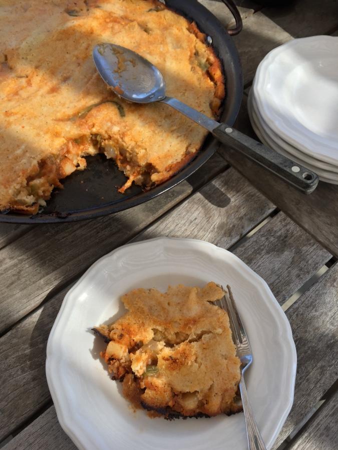 Vegan Tamal de Cazuela / Rustic Baked VeganTamale